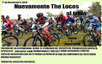 MTB - The Locos al trillo (Parque de la hispanidad, Durazno, 01/nov/2014)
