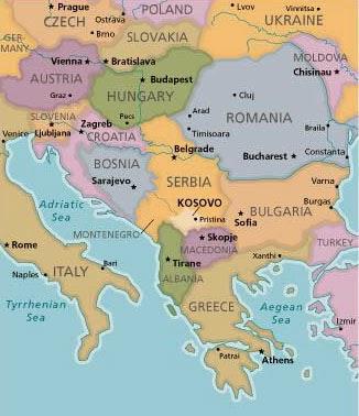 Balkanlar Haritası ve Kosova