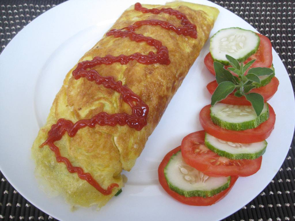 this is my 1st time making omurice omurice is a japanese word for ...