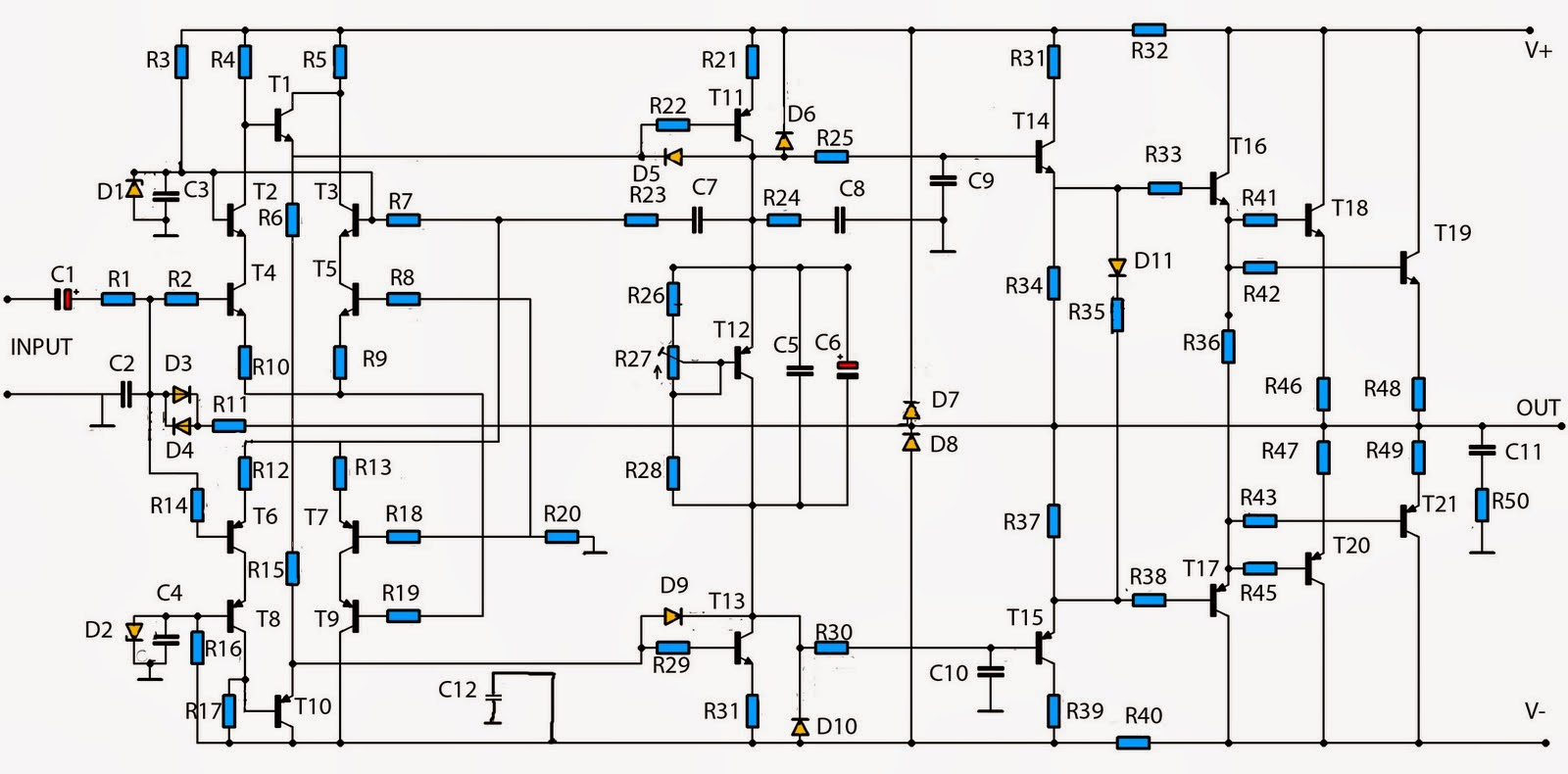 Collection Scheme Audio Power Amplifier Auto Electrical Wiring Diagram 2x12w Stereo With Tda1521 Tda1521q Circuit High 2800w