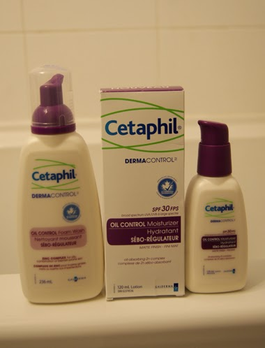 Cetaphil Oil Control Foam Wash and the Oil Control Moisturizer with SPF 30