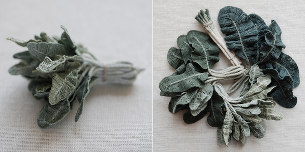 crochet art, crocheted herbs by Itoamika Jung-jung