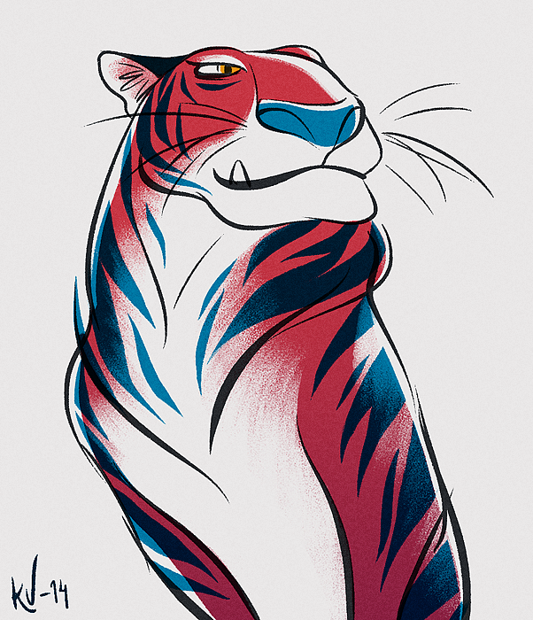 #tiger #sketch #illustration #animation #digital #painting #drawing #color #study #shape #form