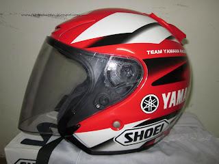Shoei Yamaha Merah