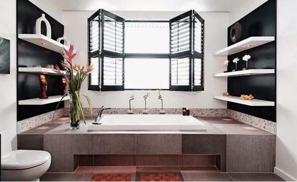 étagères salle de bain