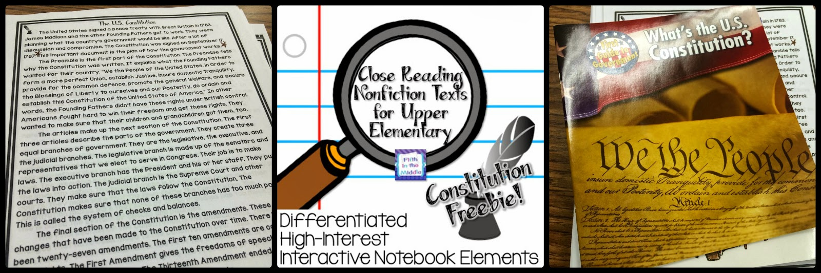 https://www.teacherspayteachers.com/Product/Constitution-Day-Close-Reading-Freebie-1385078