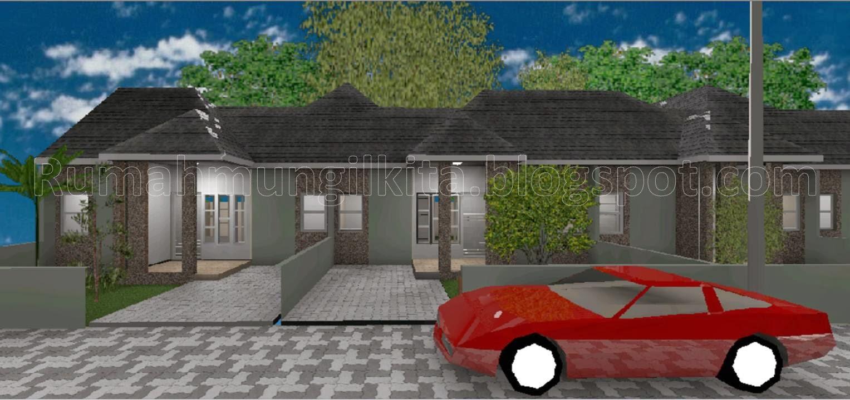 desain rumah tipe 45 tanah 90 m2 dengan 3 kamar tidur
