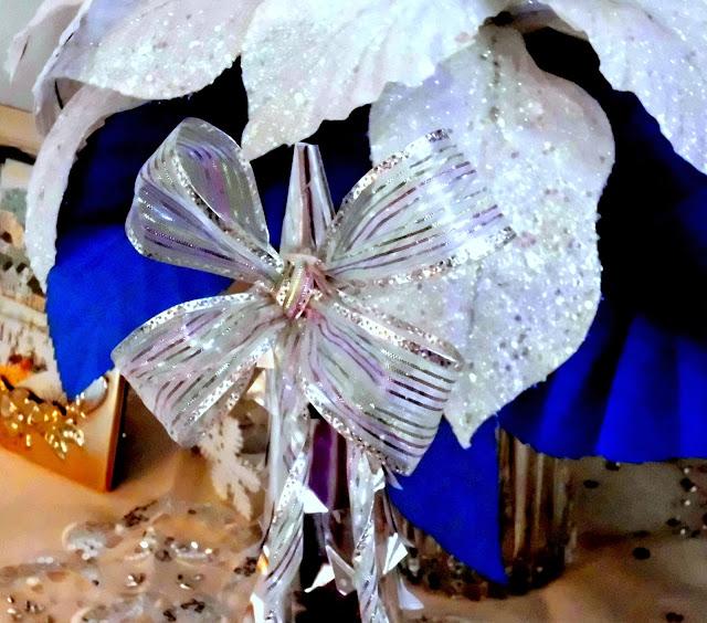 árbol de navidad de papel platina