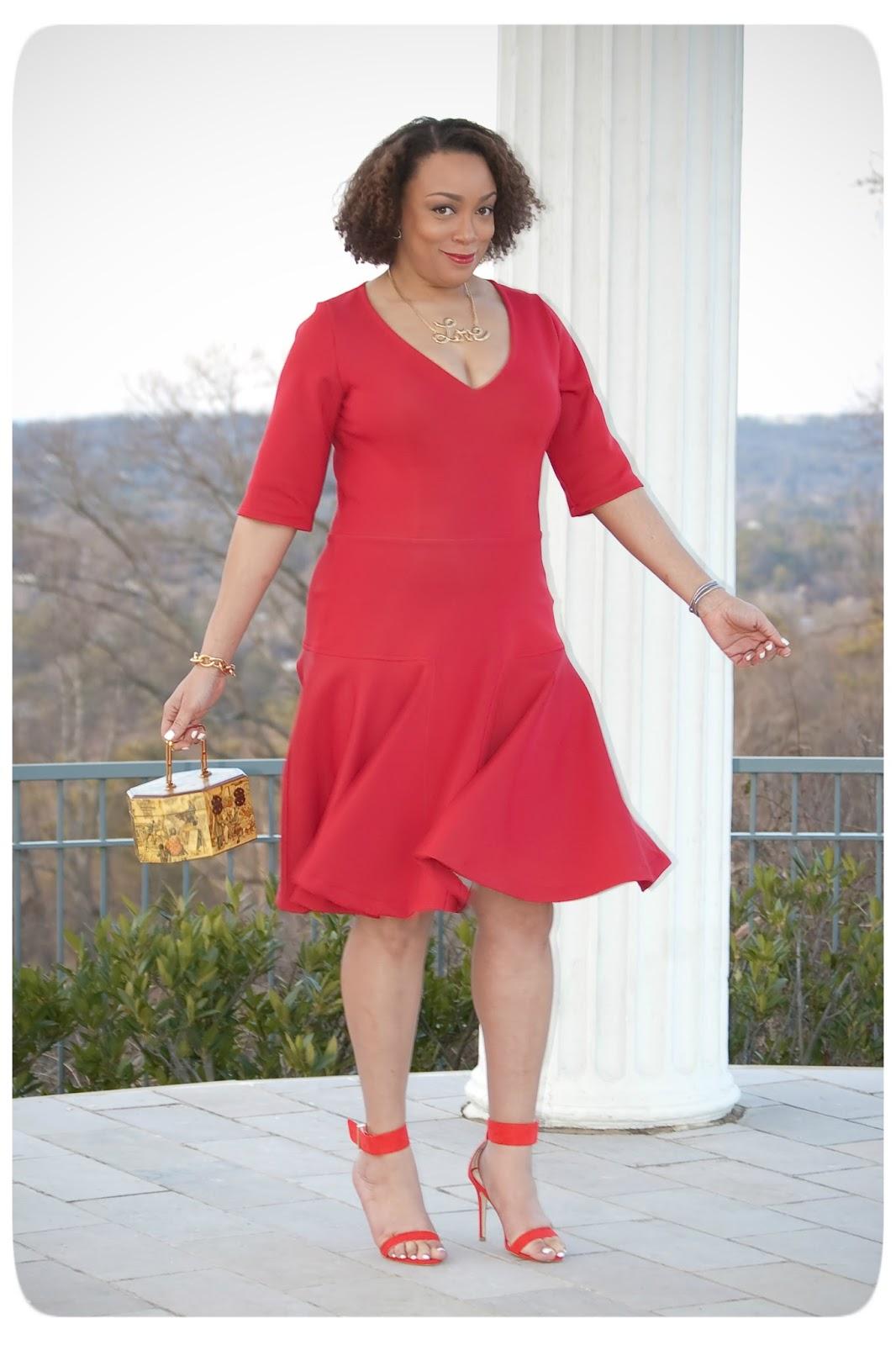DIY Red Neoprene Dress