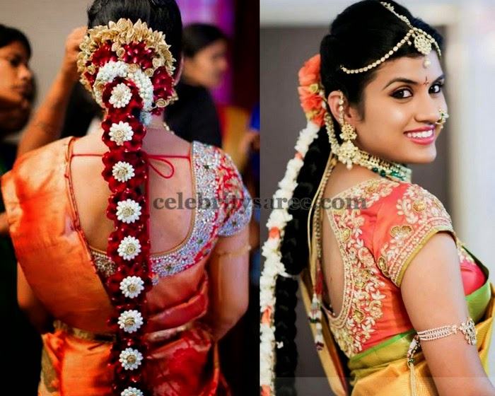 Real Life Brides in Designer Blouses