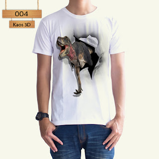 Kaos 3D Animal Bahan Cotton Combed 30s Kualitas Premium