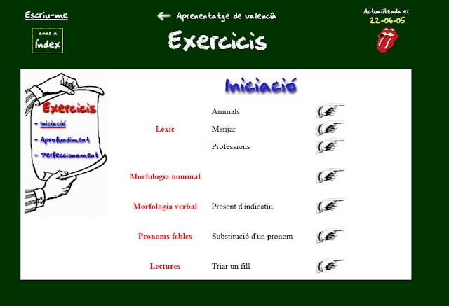 http://www.ua.es/personal/robert.escolano/aprenentatge/exercicis/iniciacio.htm