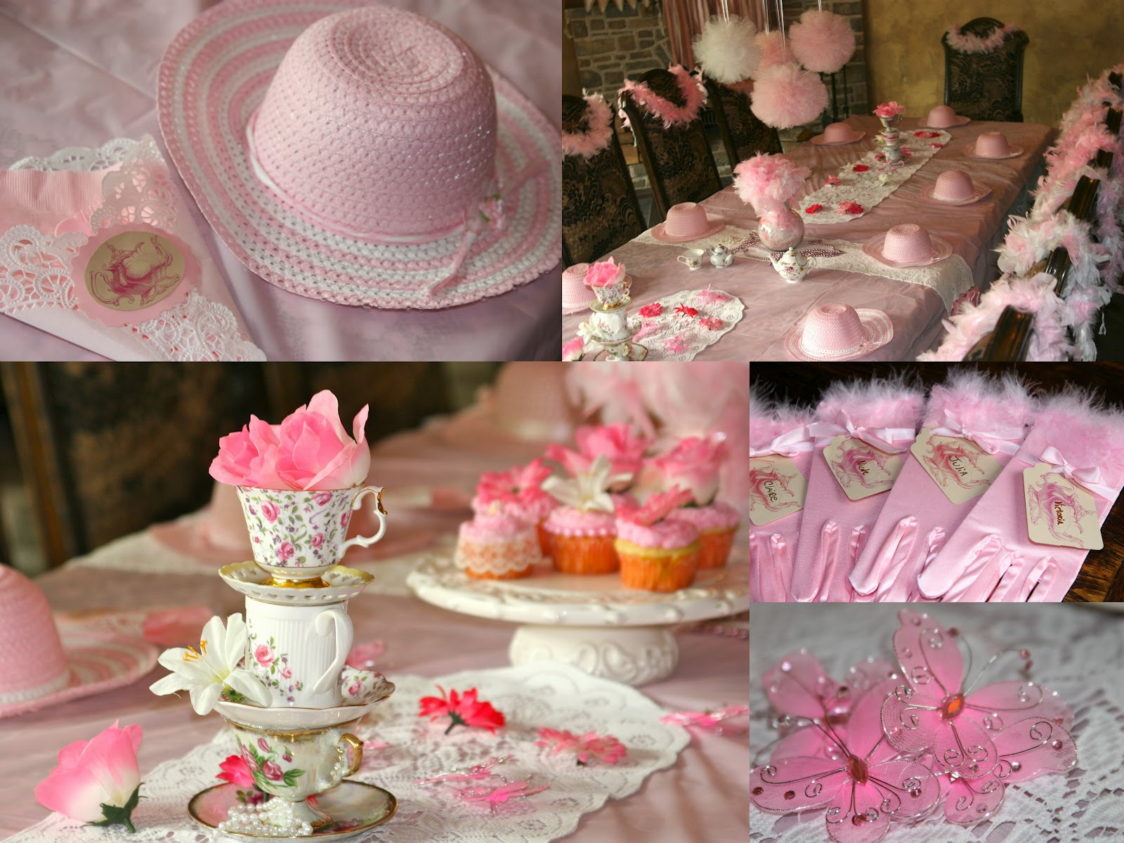 Pretti mini blog the classic tea party Party table setting decoration