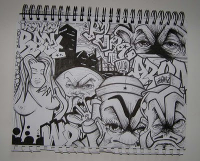 Graffiti mural2012 graffiti alphabet blackbook sketch wildstyle