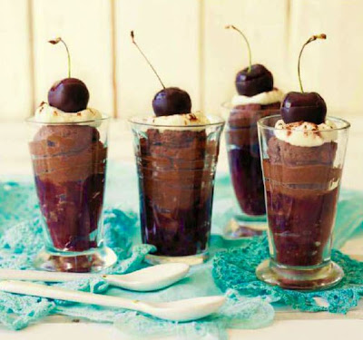 Cherries and Chocolate Mousse