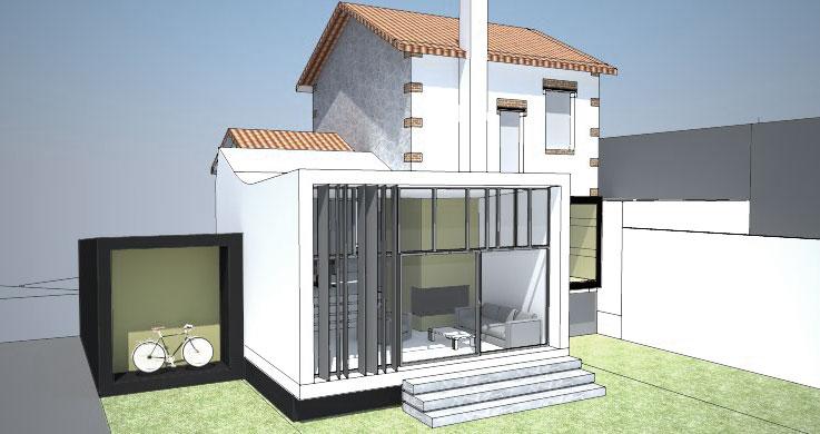 nim architecture extension saint maur des fosses. Black Bedroom Furniture Sets. Home Design Ideas