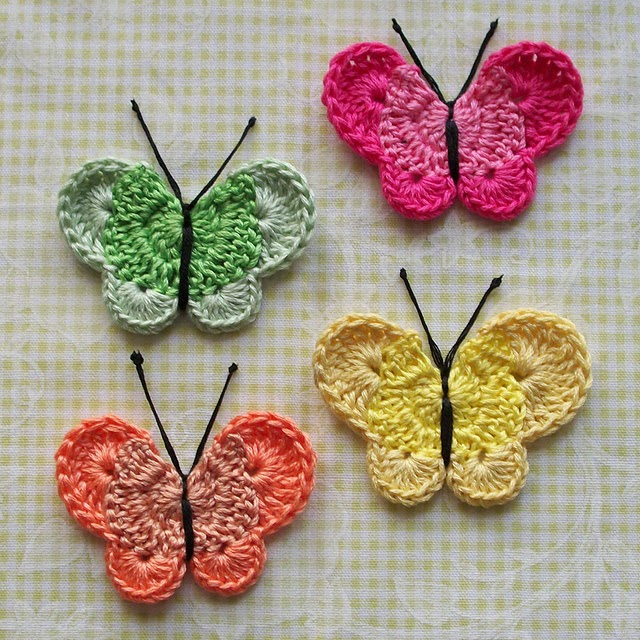 Crochet Motif Patterns : Free Crochet Butterfly Pattern