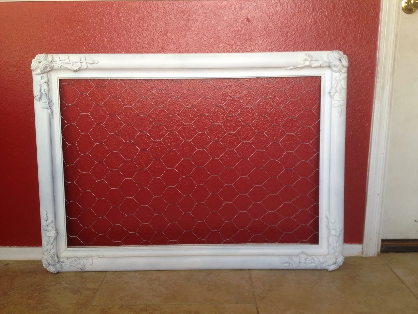 Shabby Chic Chicken Wire Frame  *SOLD*