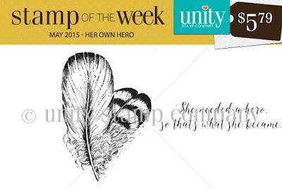 Unity Stamp Company: SOTW Her Own Hero #unitystampco #sotw