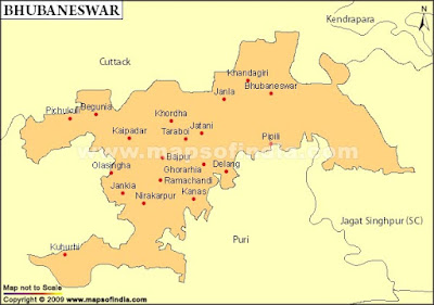 Bhubaneswar Map