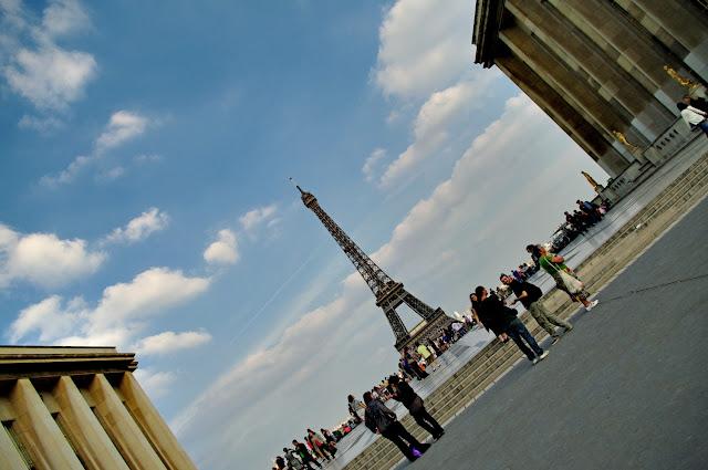 Tour Eiffel vue depuis le Palais de Chaillot Paris images