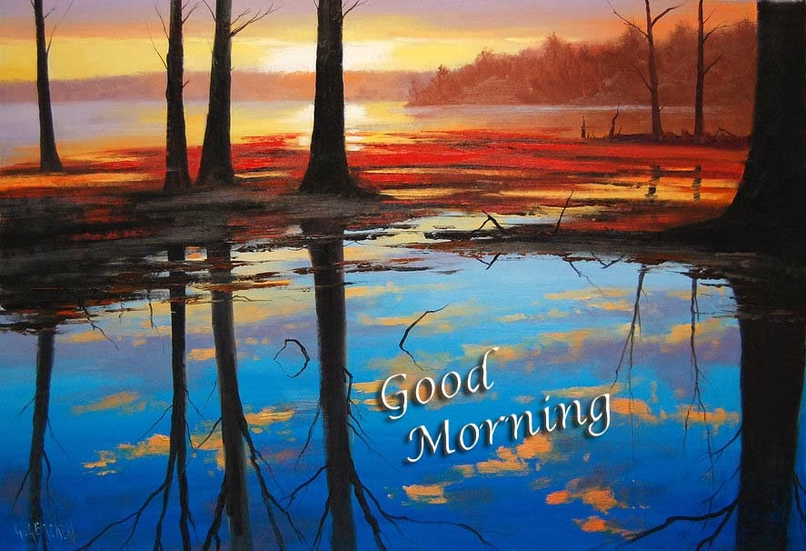 nature-trees-lake-water-sunrise-morning-hd-image