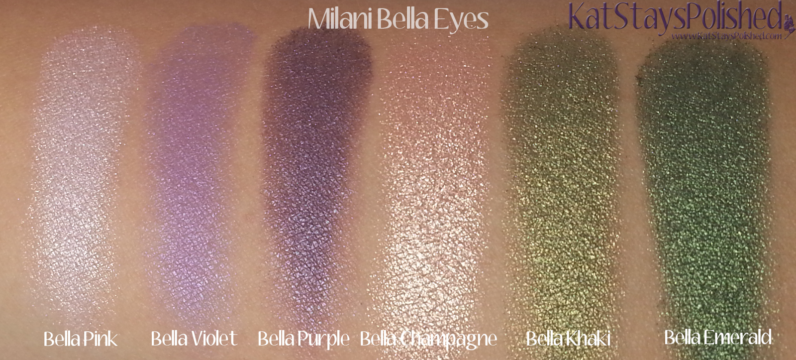 Milani Bella Eyes Gel Powder Eye Shadow - Swatches 13-18 | Kat Stays Polished
