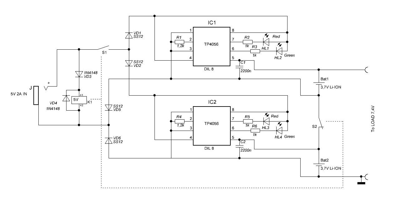 Tp4056 схема зарядного устройства с балансировкой фото 509