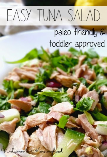 Easy, healthy recipes: kid approved, paleo tuna salad {Welcome to Mommyhood} #paleo, #easyhealthyrecipes, #tunasalad