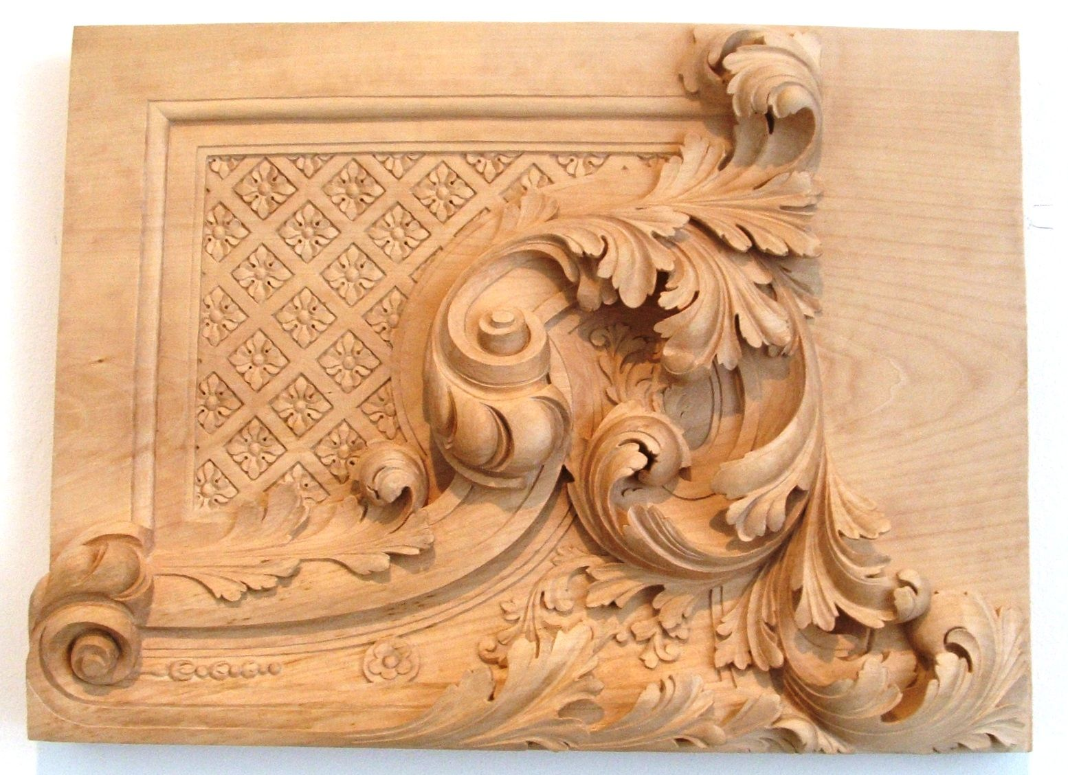 Wooden carving simple home architecture design