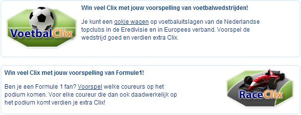 Clix verdienen met SportClix