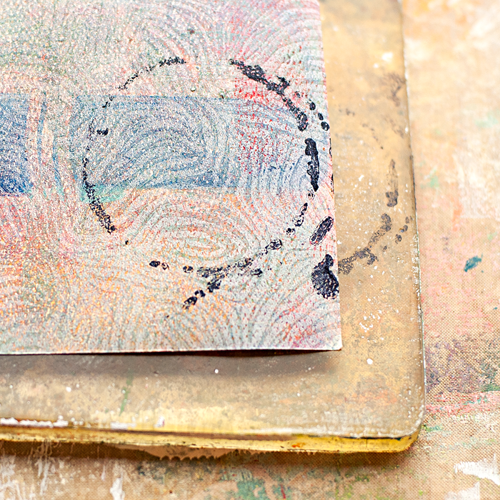 a simple mixed media tutorial using a Gelli Arts Plate, stencils and paint to add more texture to your projects