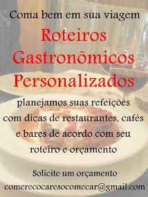 Faça seu roteiro gastronômico conosco