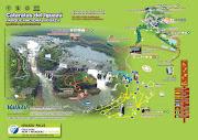 Mapa do Parque Nacional IguazuArgentina