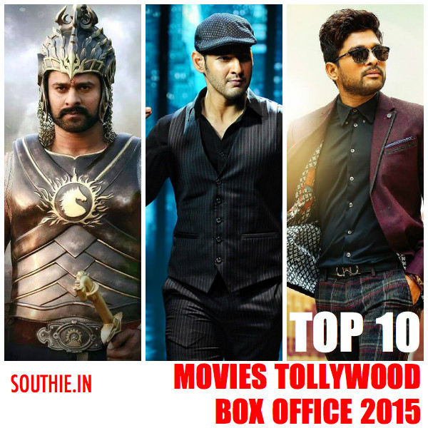 Top 10 telugu films at the box office 2015. Baahubali Tops all the other movies by a BIG Margin. Baahubali, Srimanthudu, Son of Satyamaurthy, Rudramadevi, Bruce Lee the Fighter, Temper,