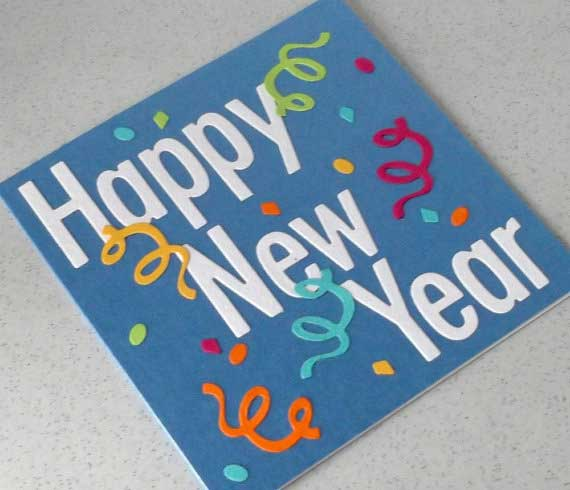 new year card design handmade