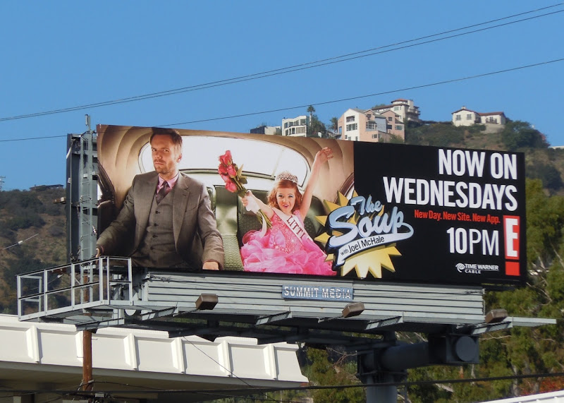 The Soup beauty pageant TV billboard