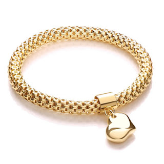 J Jaz Mesh Bracelet With Heart Charm