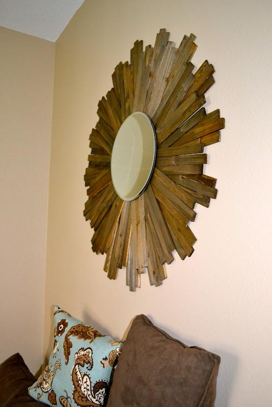 DIY Wood Shim Sunburst Mirror