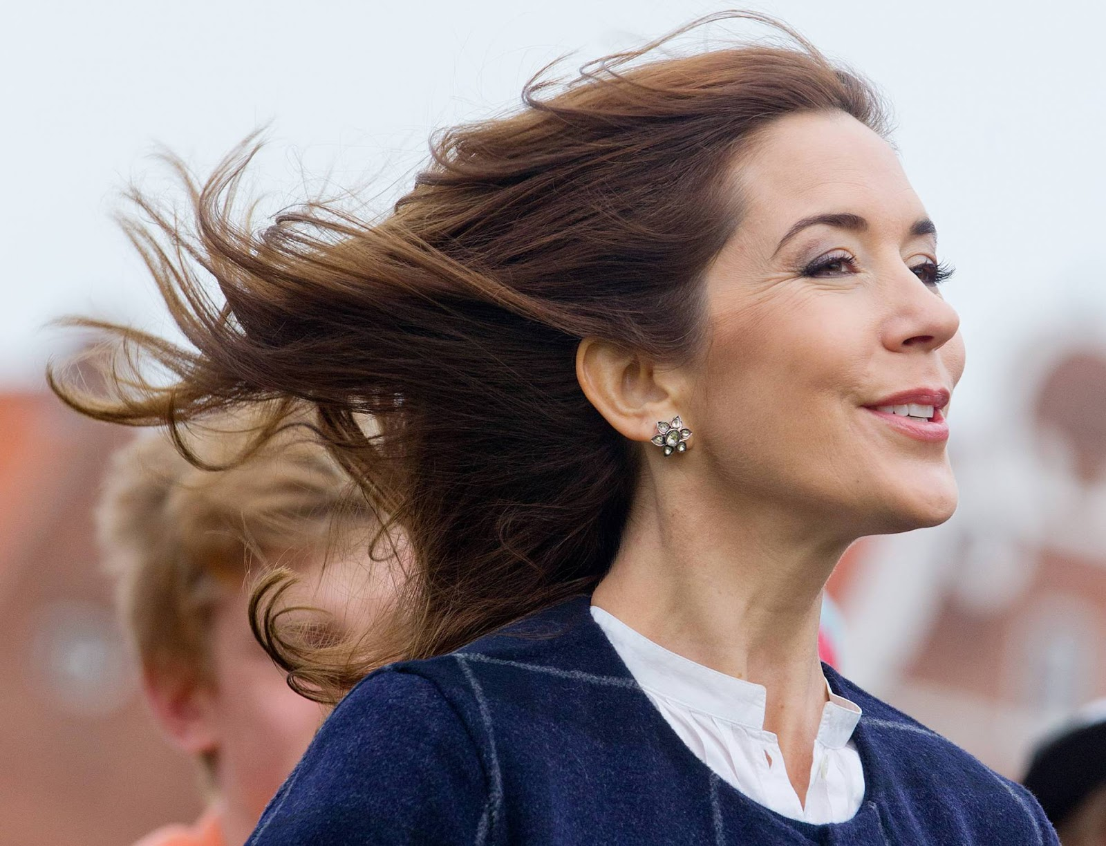 Crownprincess Mary of Denmark visit the Kommuneskole where they celebrate 200 years of education in Naevsted, Denmark,