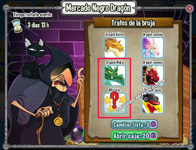 imagen del mercado negro con muchos dragones especiales