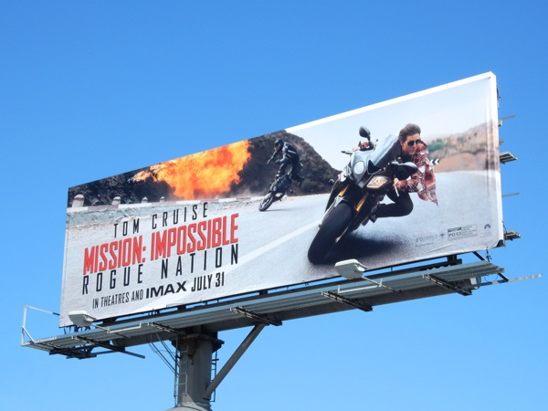 Mission Impossible Rogue Nation motorbikes billboard