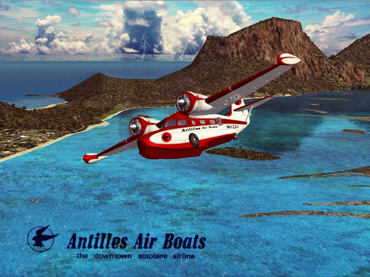 Spring Break '74 and '75, Caribbean Flights, Antilles Air Boats, Grummna G-21 Goose