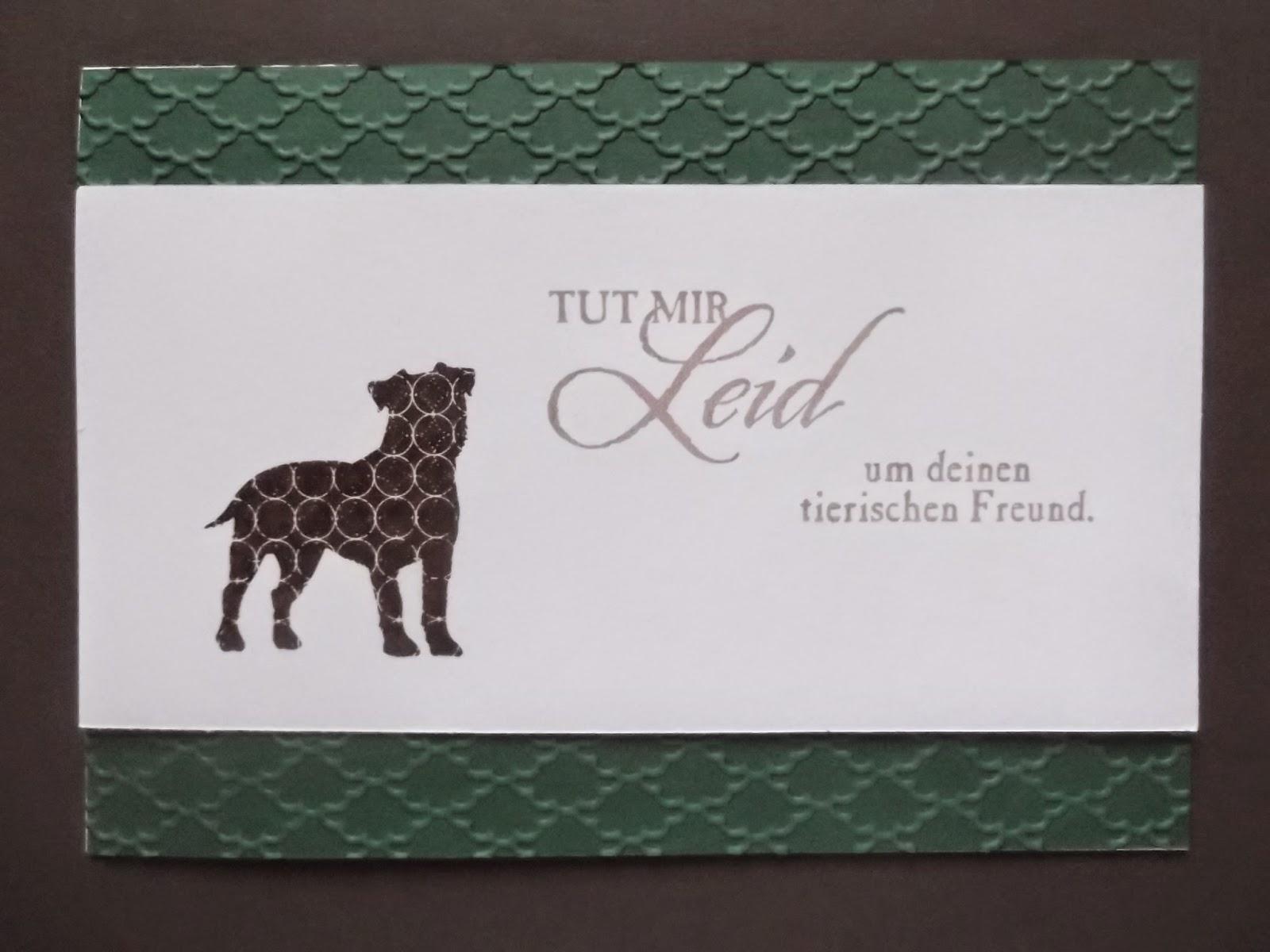 Beileidswunsche Fur Karten: Sconebeker Stempelscheune: Weitere Trauerkarten Für Hunde