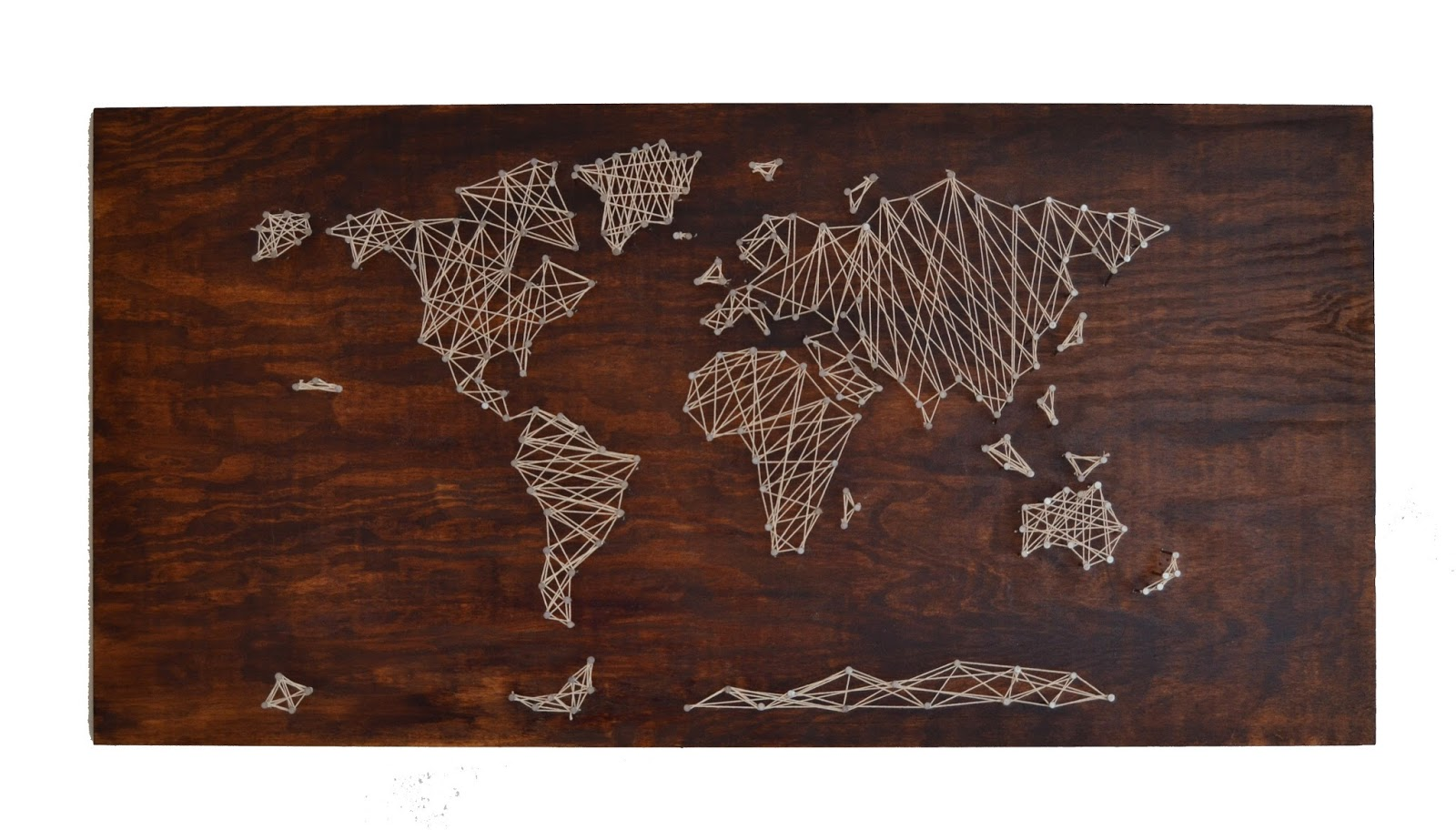 World Map String Art Diy String Art World Map