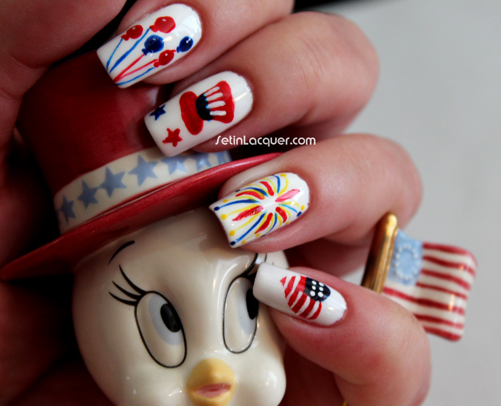 Fourth of July nail art - Set in Lacquer
