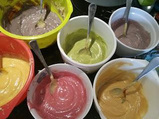 Rainbow cake mix