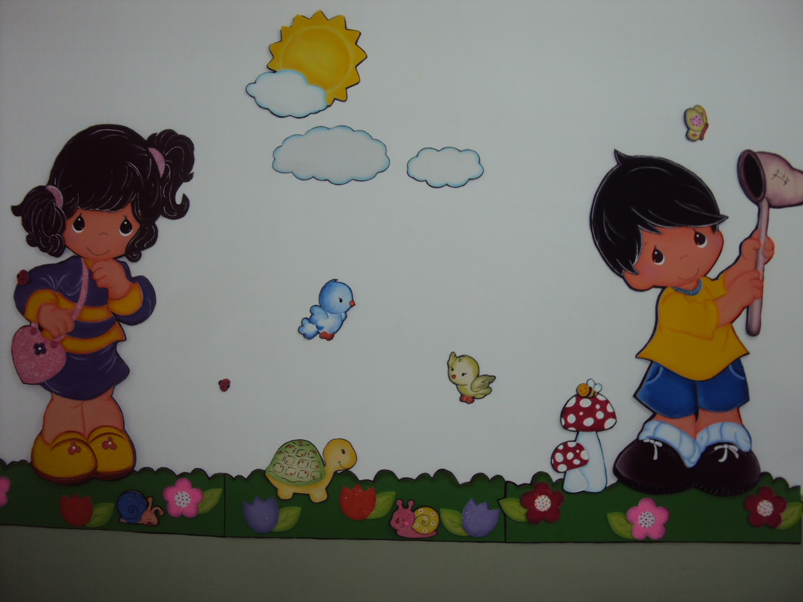 arte com massinhas de biscuit e tintas