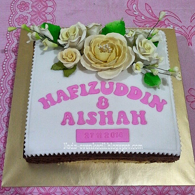 KEK HANTARAN SIMPLE DECO (FONDANT)
