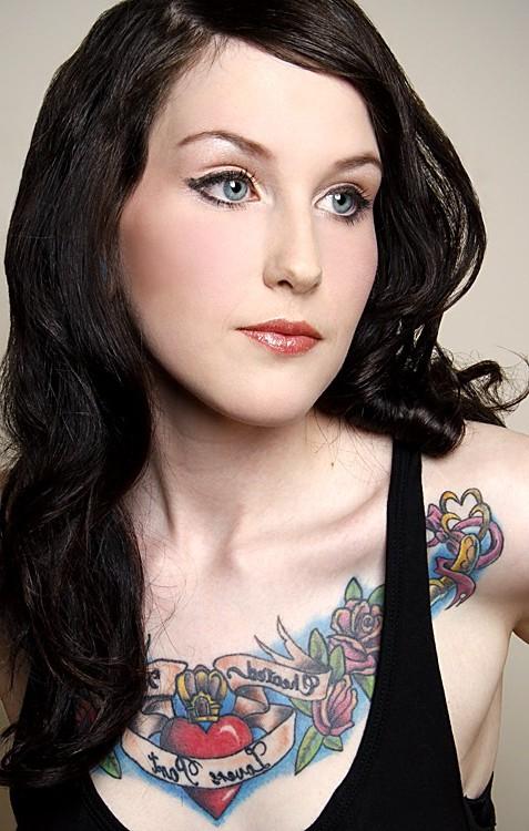 Flowers, Cute, Girl, Tattoos